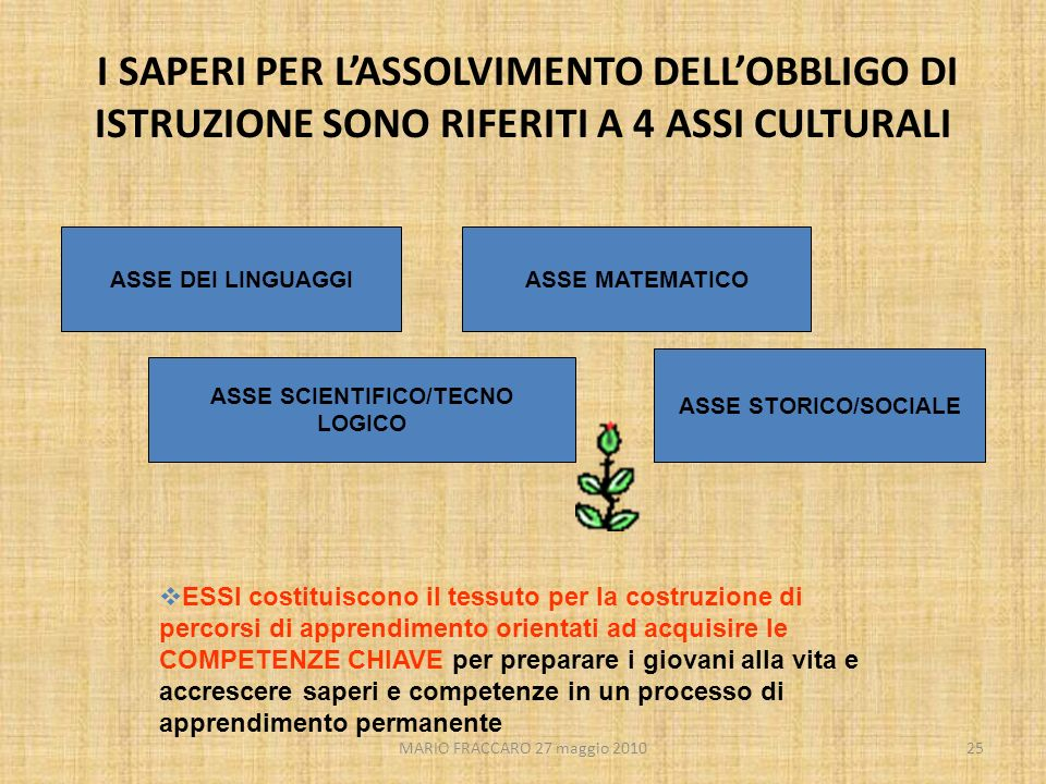 ASSE SCIENTIFICO/TECNO