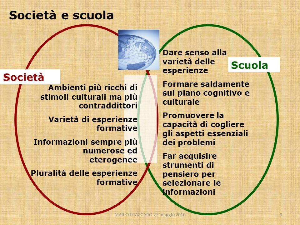 Società e scuola Scuola Società