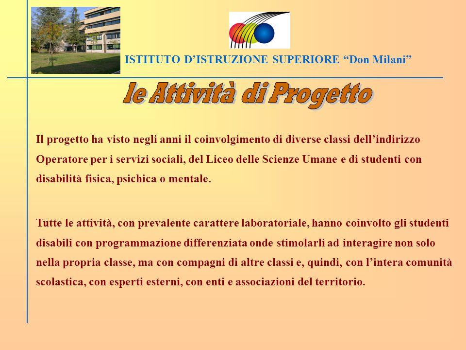 ISTITUTO D'ISTRUZIONE SUPERIORE Don Milani le Attività di Progetto
