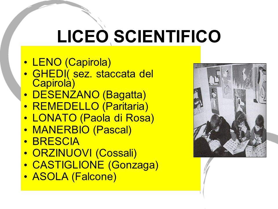LICEO SCIENTIFICO LENO (Capirola) GHEDI( sez. staccata del Capirola)