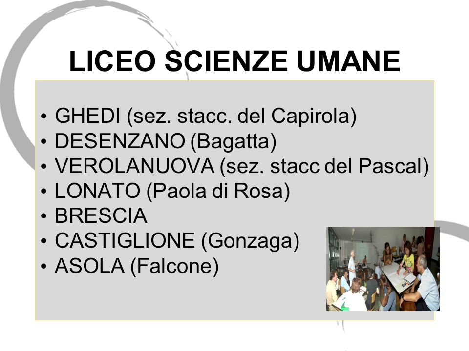 LICEO SCIENZE UMANE GHEDI (sez. stacc. del Capirola)