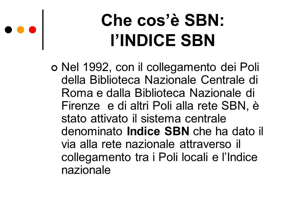 Che cos'è SBN: l'INDICE SBN
