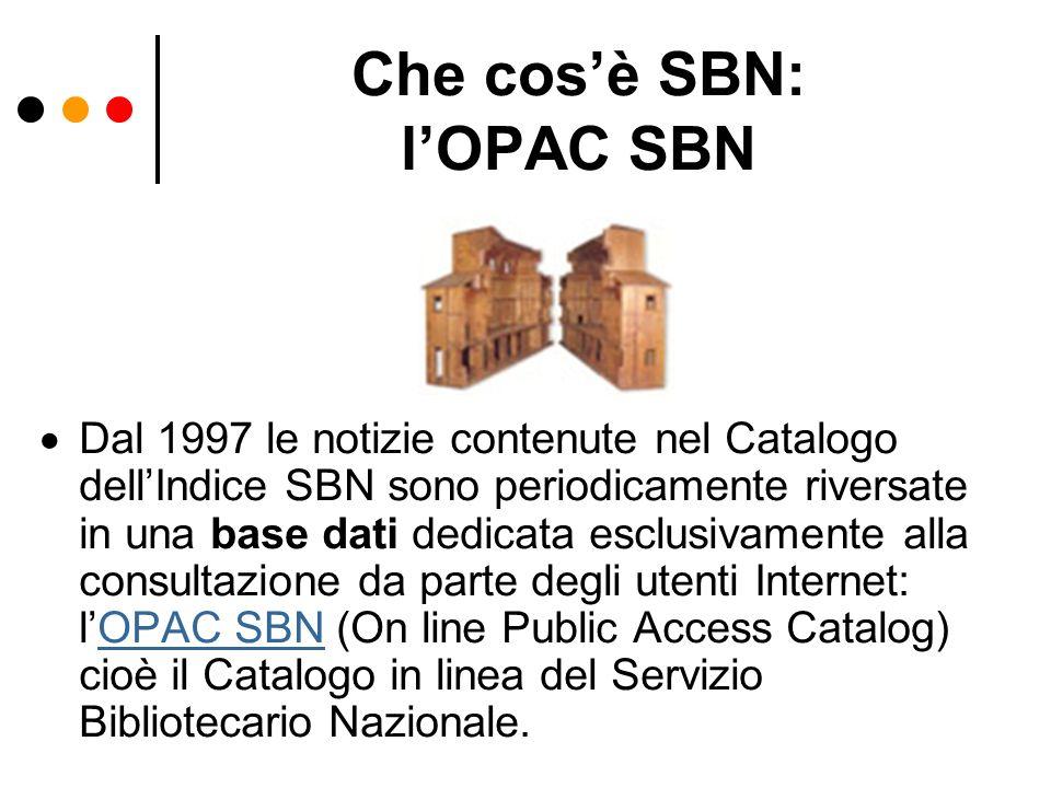 Che cos'è SBN: l'OPAC SBN