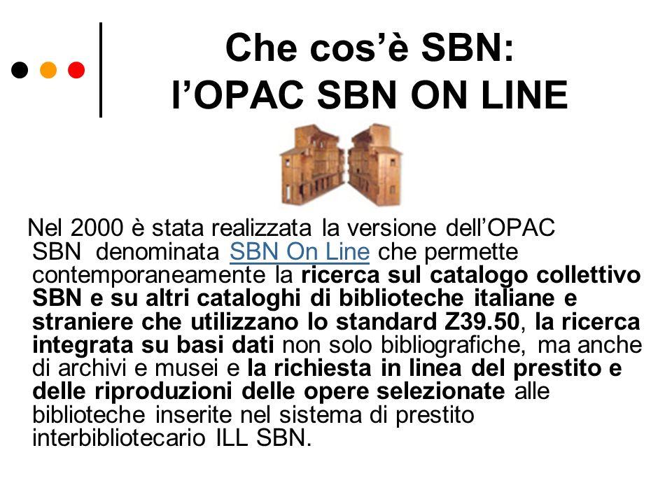 Che cos'è SBN: l'OPAC SBN ON LINE