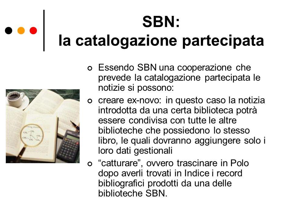 SBN: la catalogazione partecipata