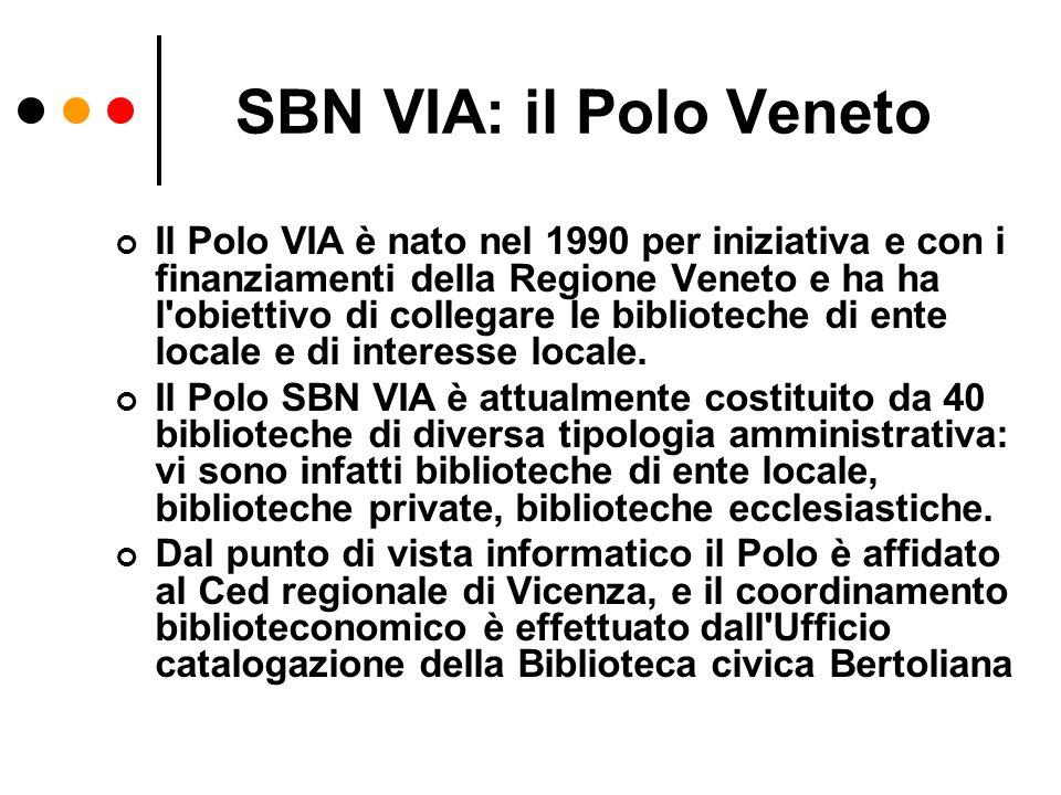 SBN VIA: il Polo Veneto