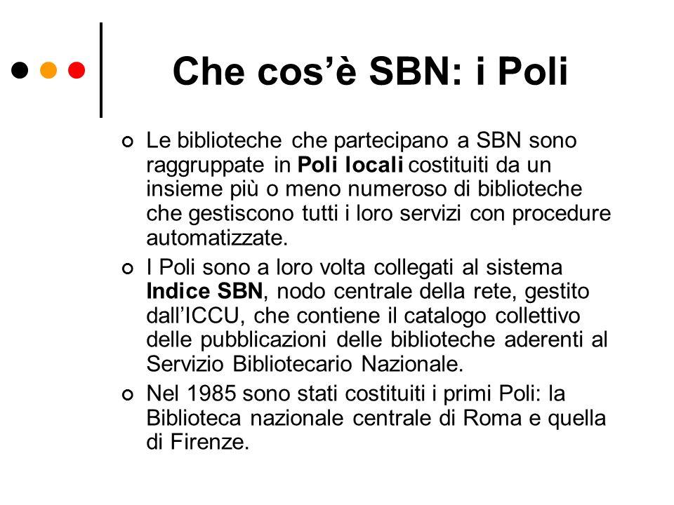 Che cos'è SBN: i Poli