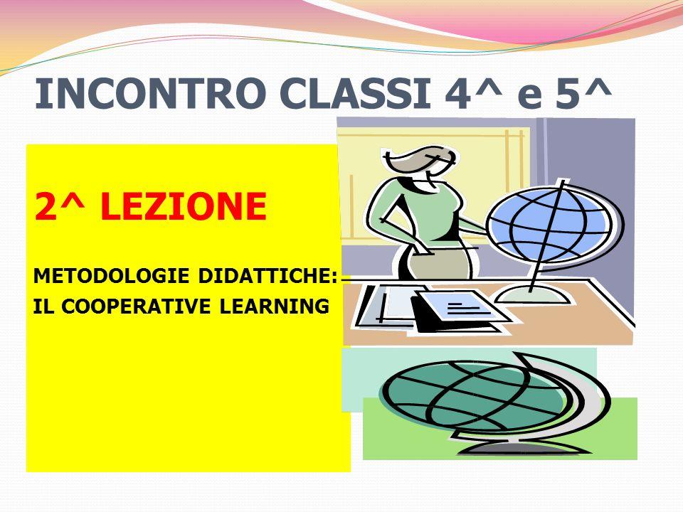 INCONTRO CLASSI 4^ e 5^ 2^ LEZIONE METODOLOGIE DIDATTICHE: