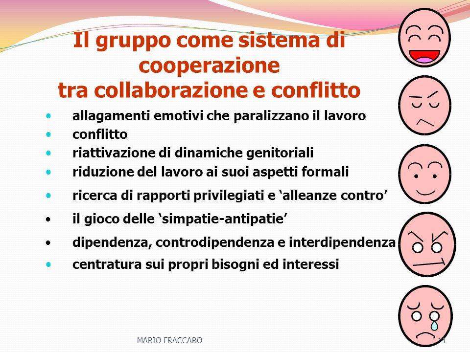 Il gruppo come sistema di cooperazione tra collaborazione e conflitto