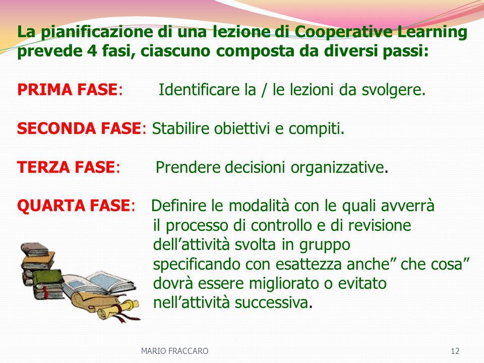 La pianificazione di una lezione di Cooperative Learning