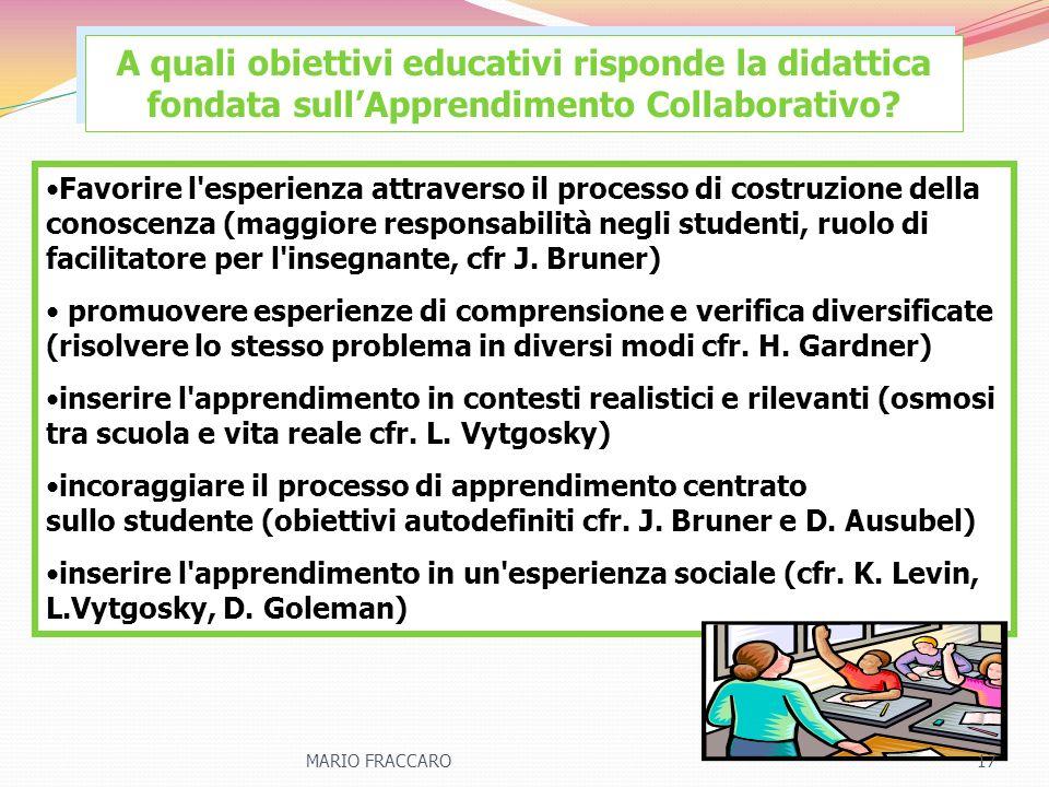 A quali obiettivi educativi risponde la didattica fondata sull'Apprendimento Collaborativo