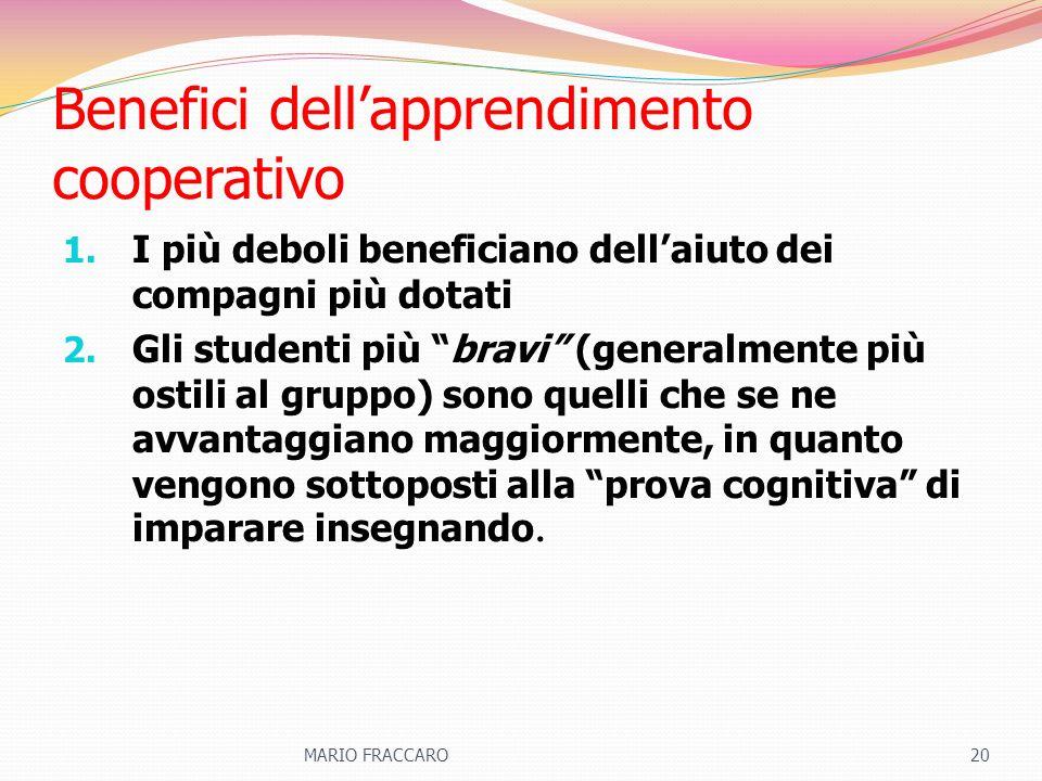 Benefici dell'apprendimento cooperativo
