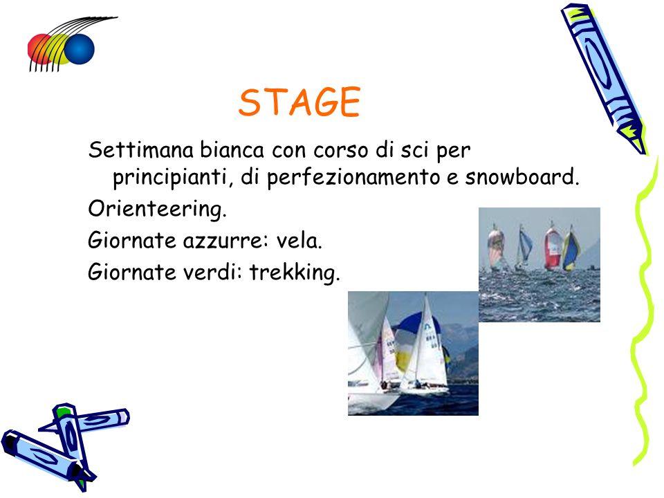 STAGE Settimana bianca con corso di sci per principianti, di perfezionamento e snowboard. Orienteering.