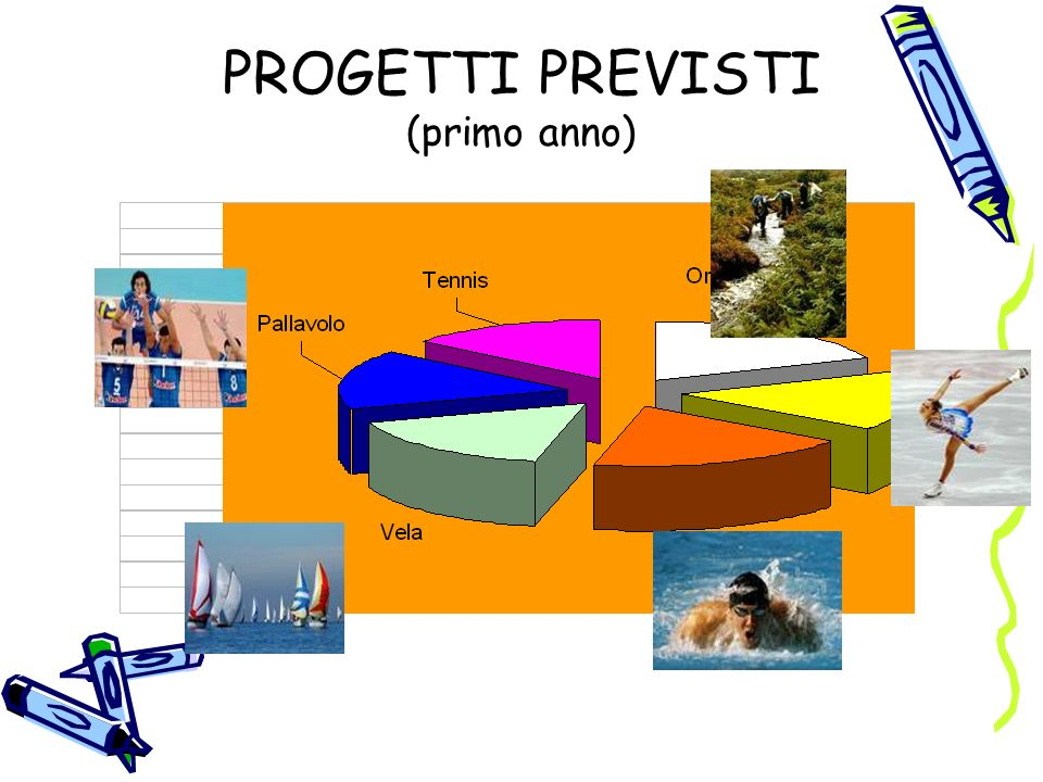 PROGETTI PREVISTI (primo anno)