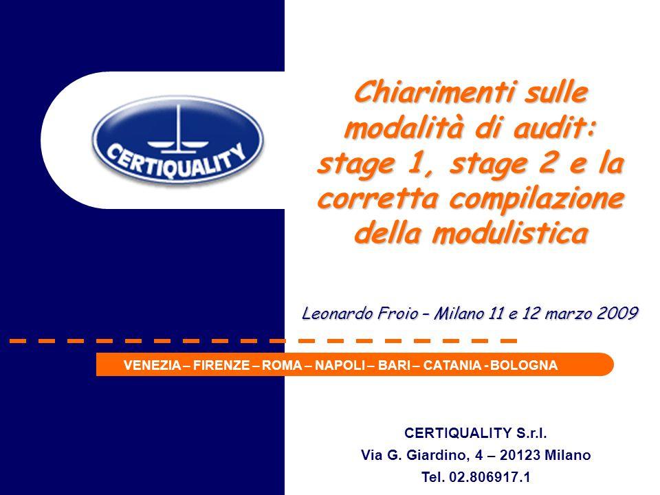 stage 1, stage 2 e la corretta compilazione della modulistica