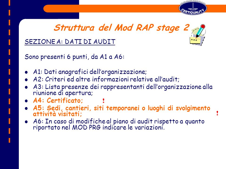Struttura del Mod RAP stage 2