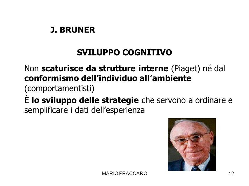 J. BRUNER SVILUPPO COGNITIVO