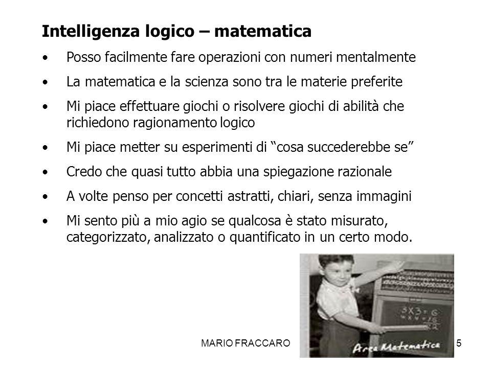 Intelligenza logico – matematica