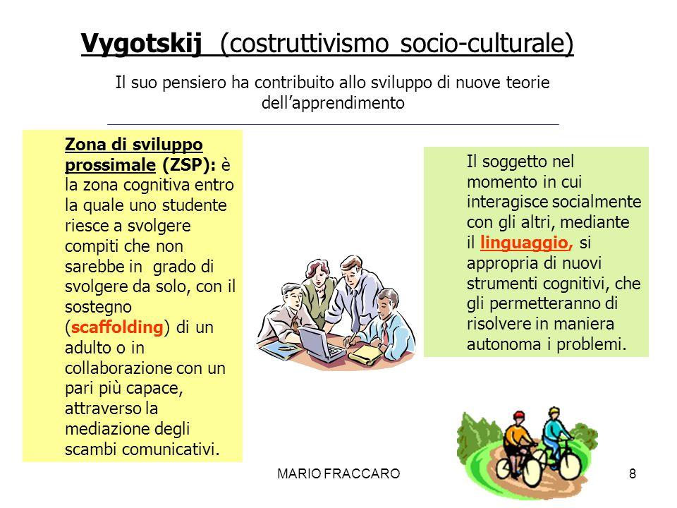 Vygotskij (costruttivismo socio-culturale)