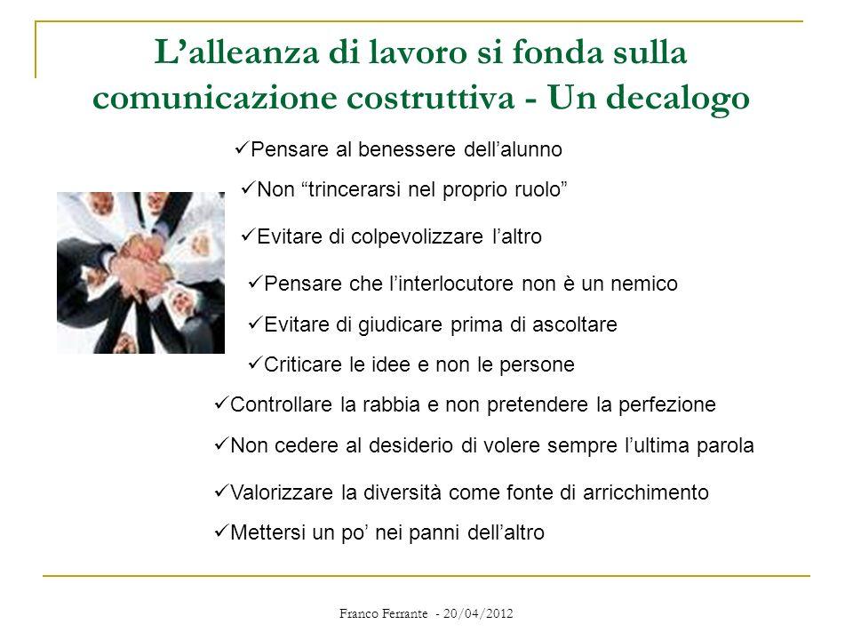 L'alleanza di lavoro si fonda sulla comunicazione costruttiva - Un decalogo