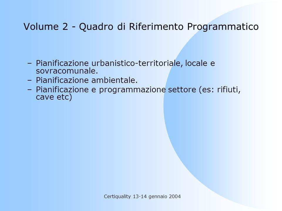 Volume 2 - Quadro di Riferimento Programmatico