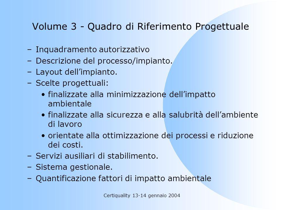 Volume 3 - Quadro di Riferimento Progettuale