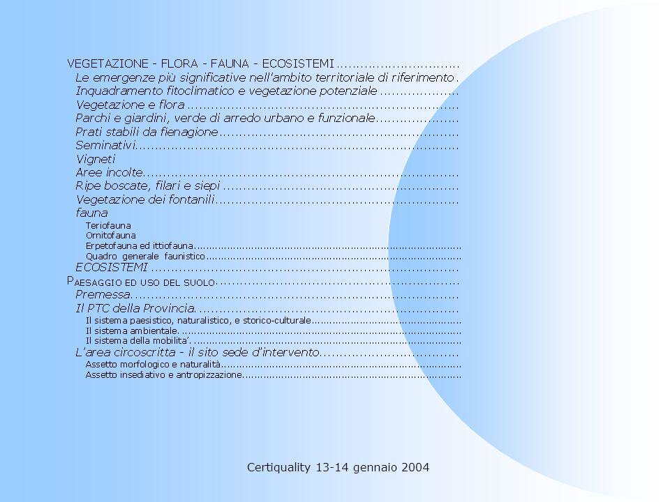 Certiquality 13-14 gennaio 2004