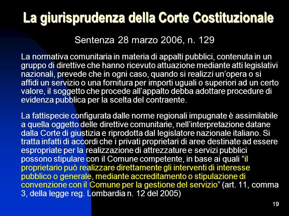 La giurisprudenza della Corte Costituzionale