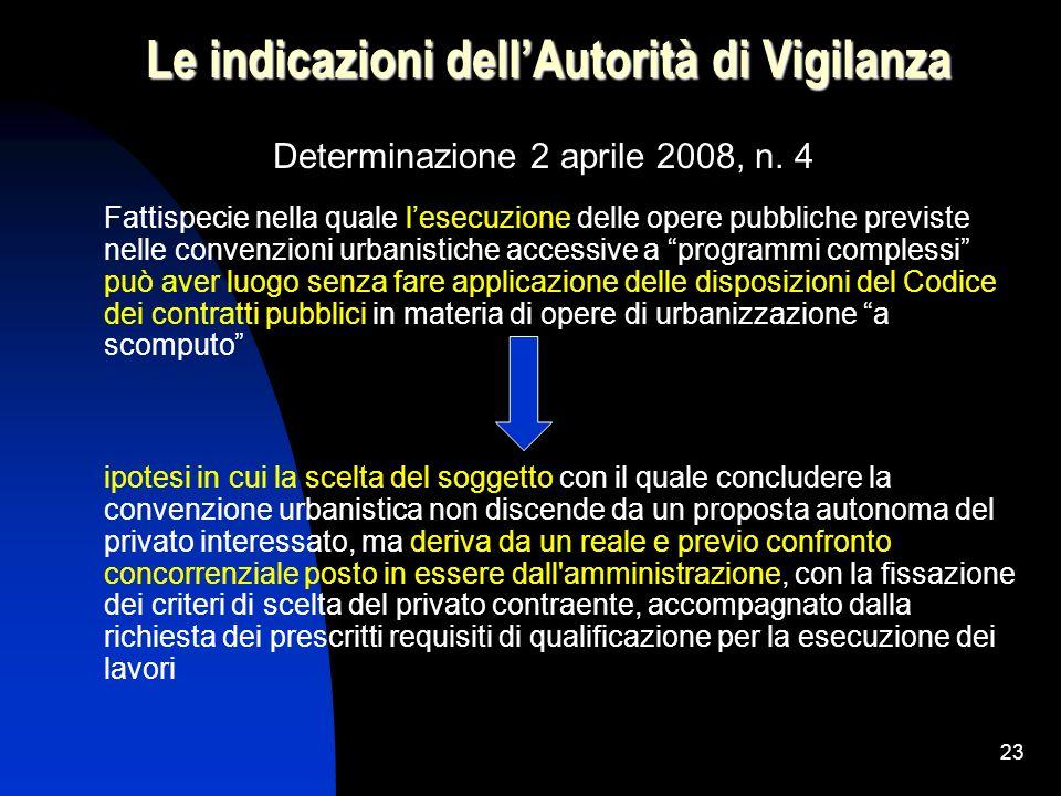 Le indicazioni dell'Autorità di Vigilanza