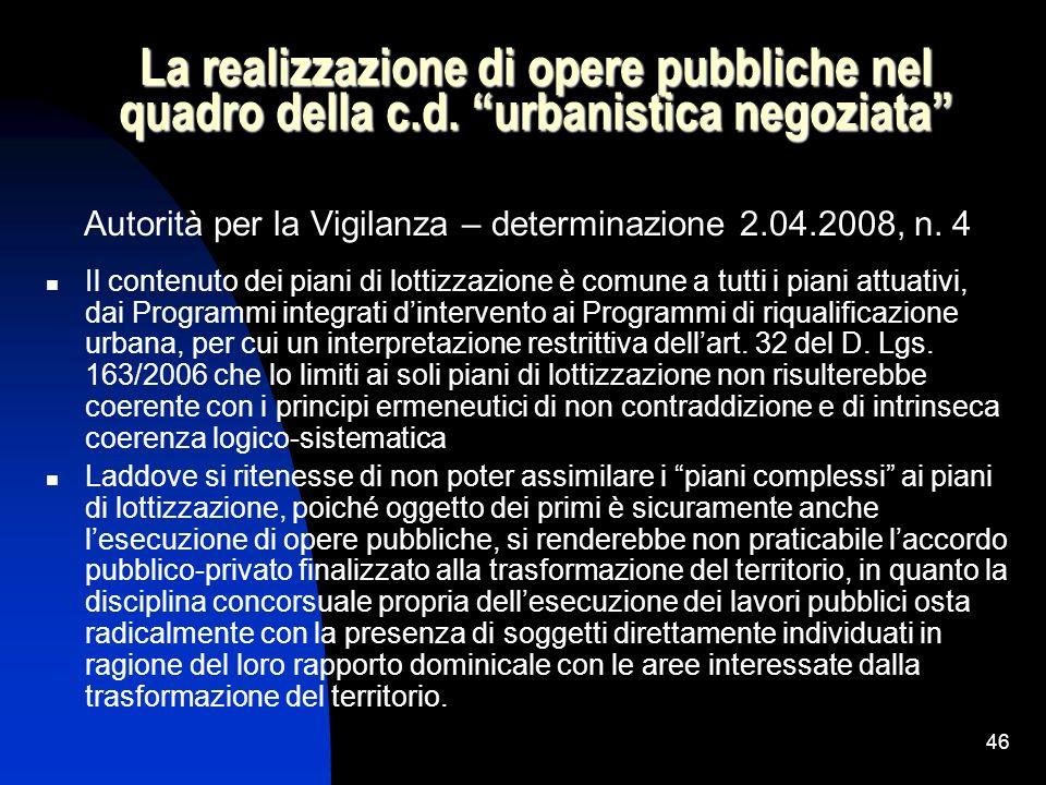 Autorità per la Vigilanza – determinazione 2.04.2008, n. 4