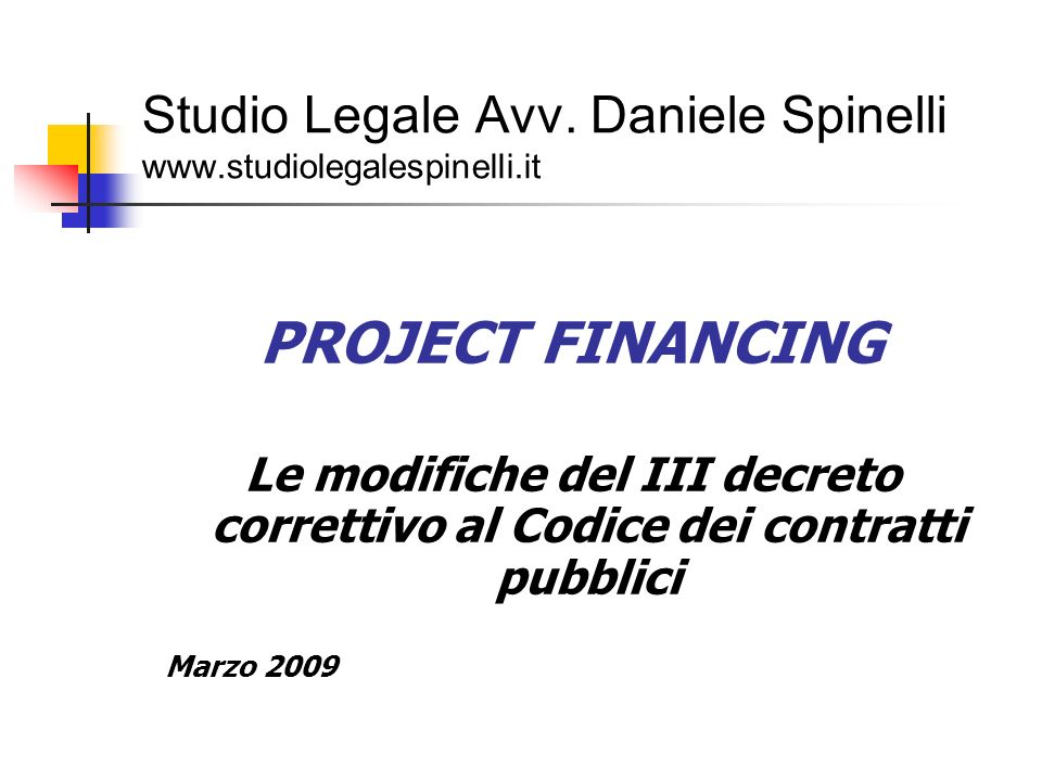 Studio Legale Avv. Daniele Spinelli www.studiolegalespinelli.it