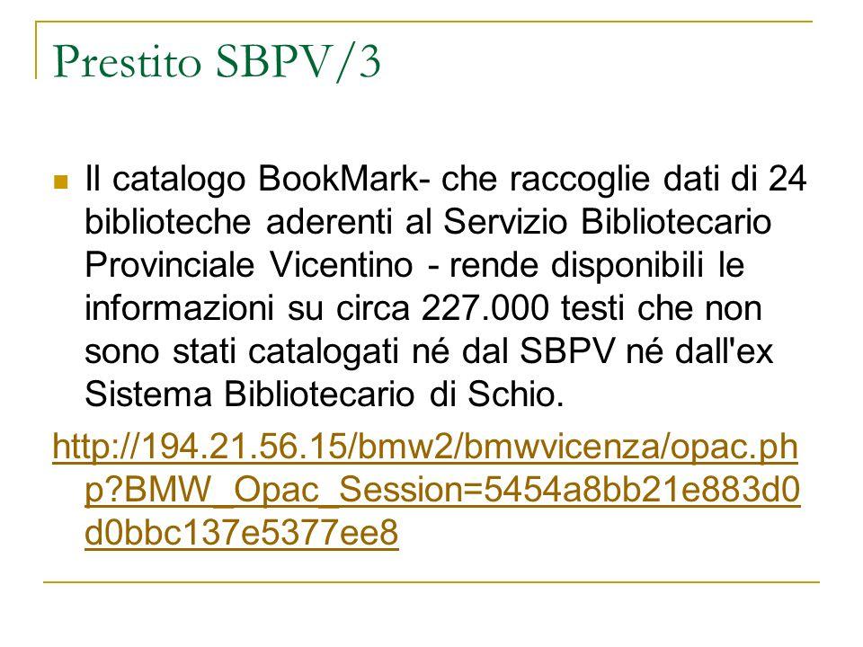 Prestito SBPV/3