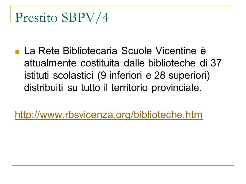 Prestito SBPV/4