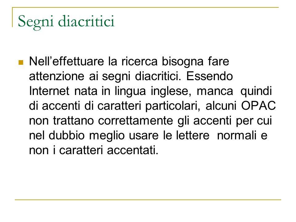 Segni diacritici
