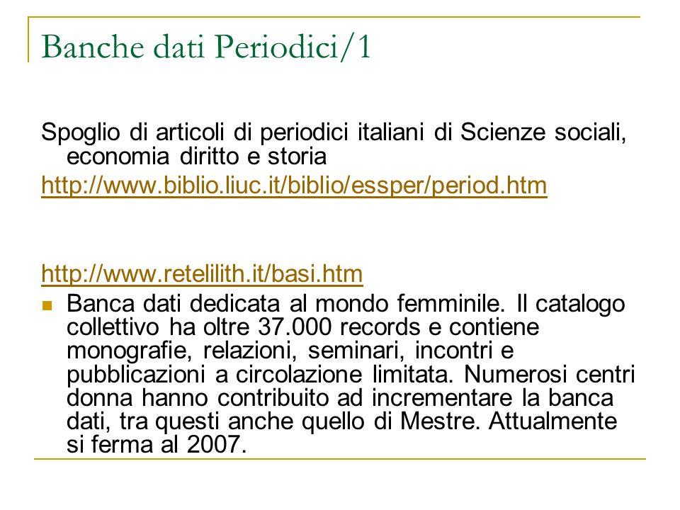 Banche dati Periodici/1