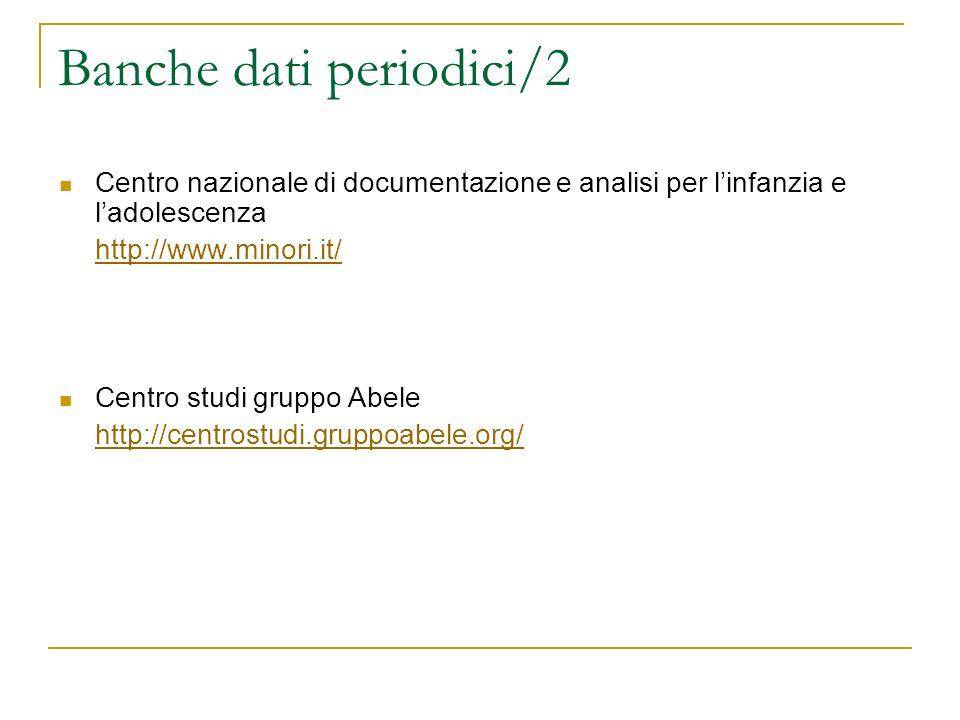 Banche dati periodici/2