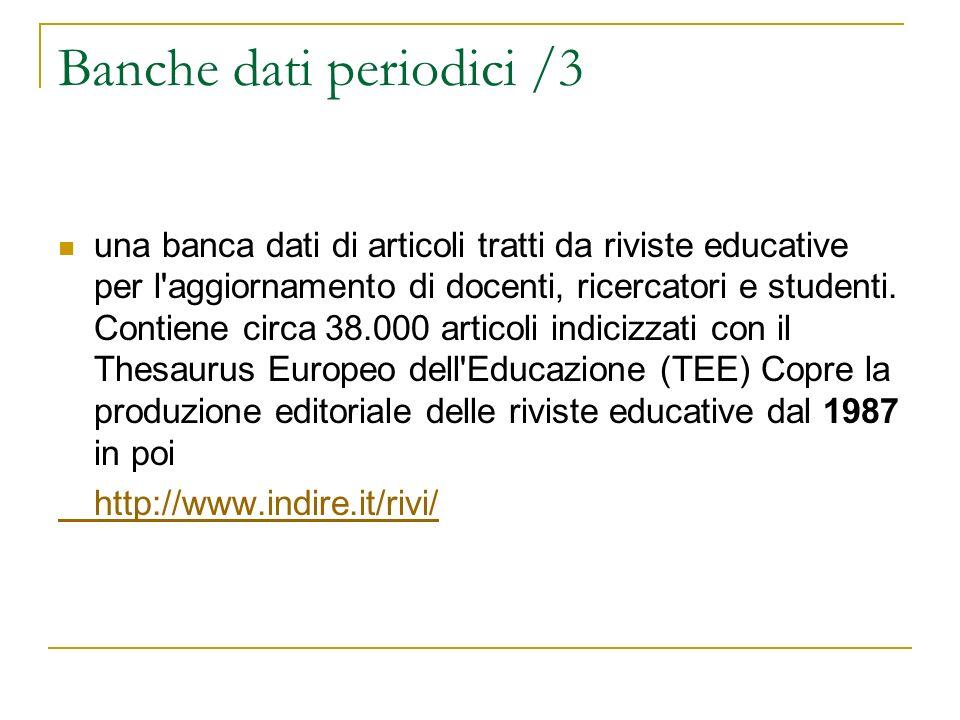 Banche dati periodici /3