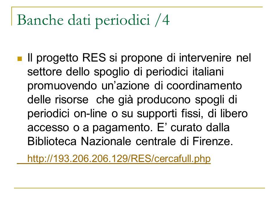 Banche dati periodici /4