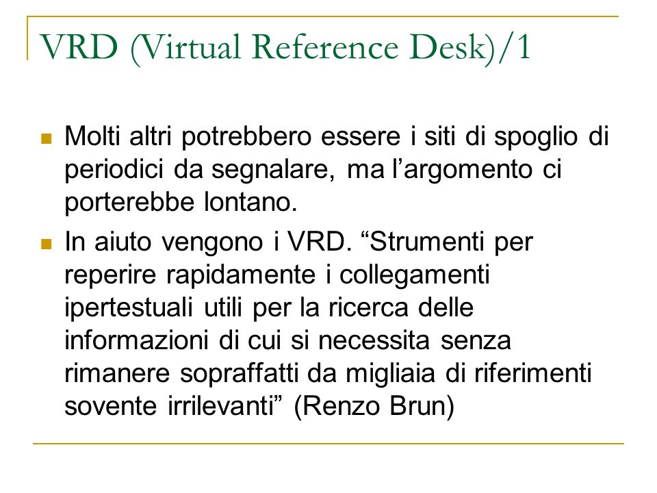 VRD (Virtual Reference Desk)/1