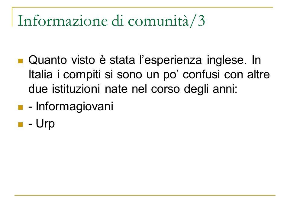 Informazione di comunità/3