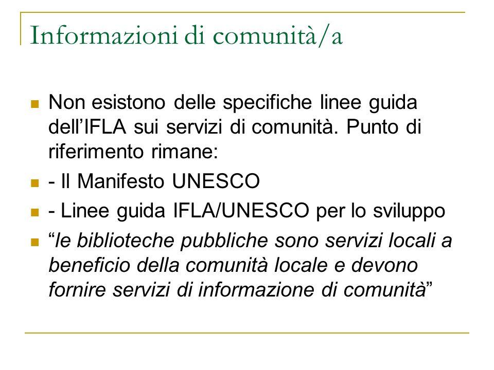 Informazioni di comunità/a