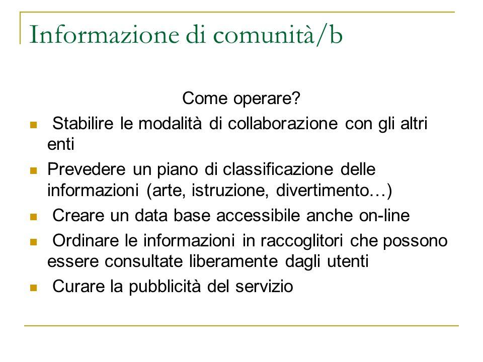 Informazione di comunità/b