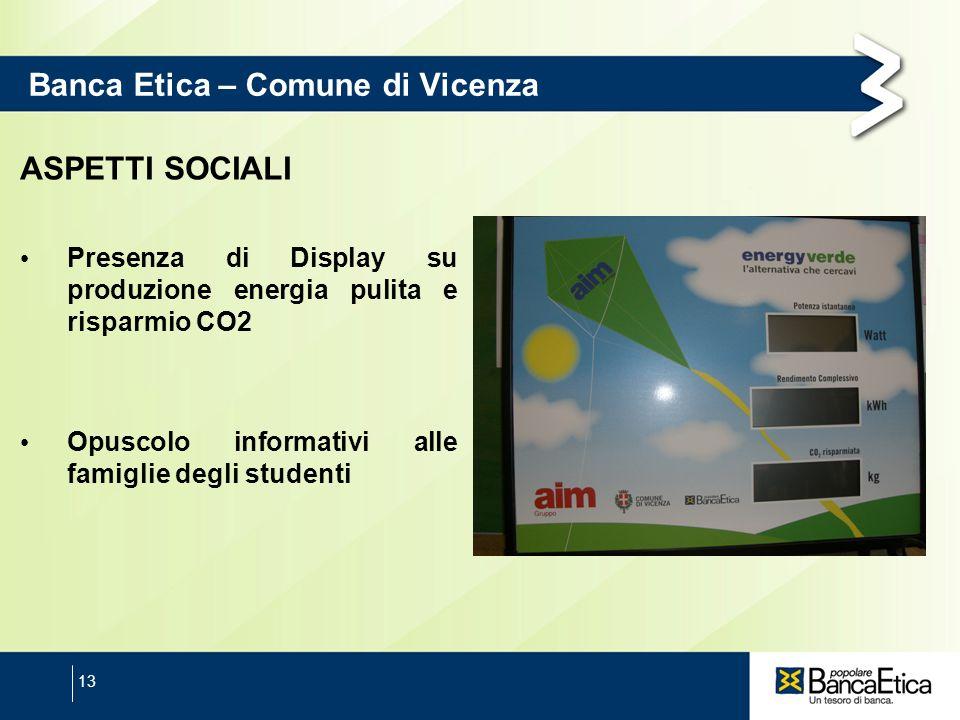 Banca Etica – Comune di Vicenza