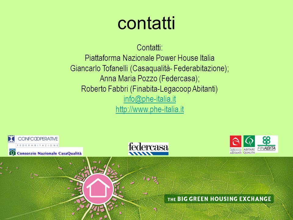 contatti Contatti: Piattaforma Nazionale Power House Italia