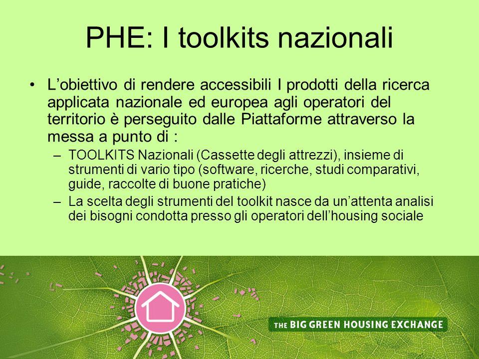 PHE: I toolkits nazionali