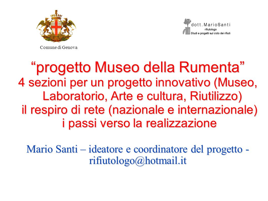 progetto Museo della Rumenta