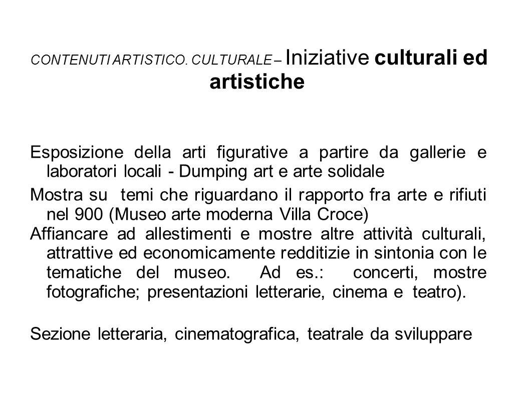 CONTENUTI ARTISTICO. CULTURALE – Iniziative culturali ed artistiche