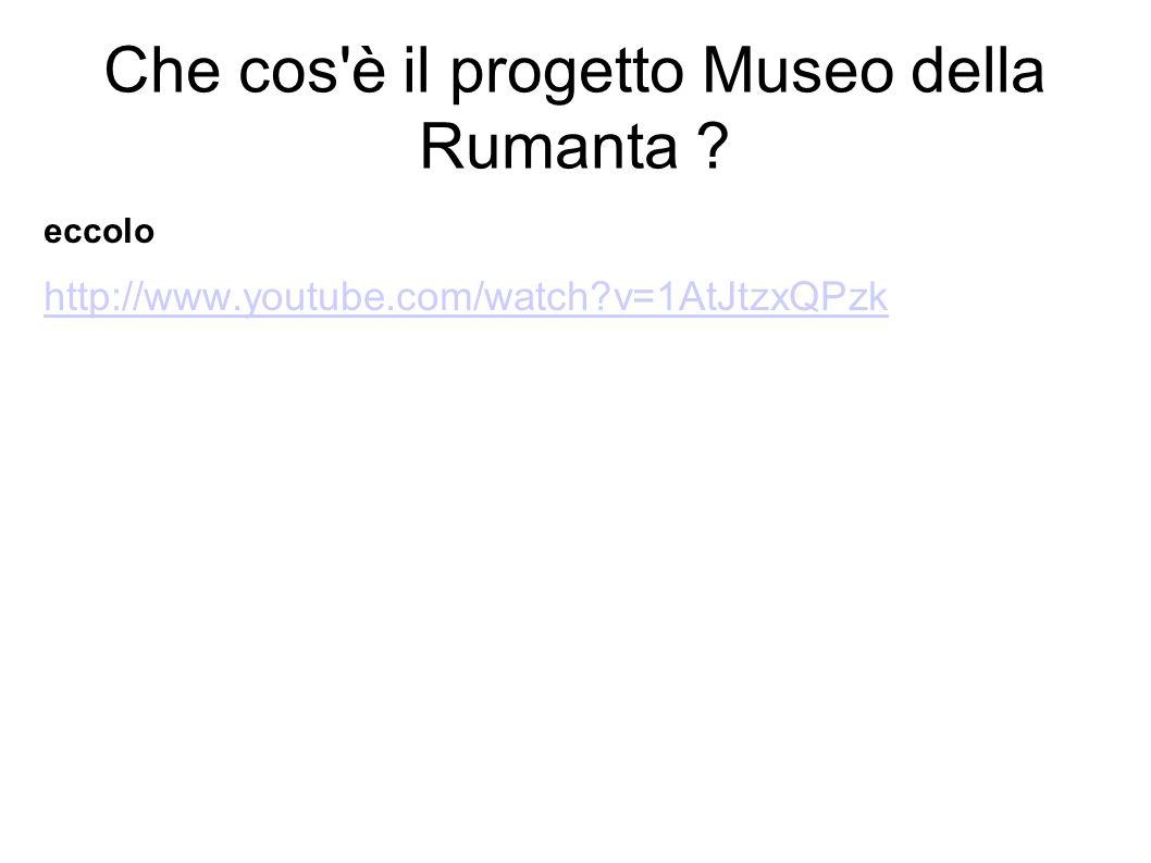 Che cos è il progetto Museo della Rumanta