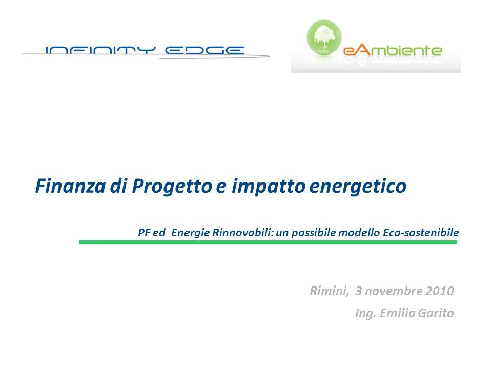 Finanza di Progetto e impatto energetico