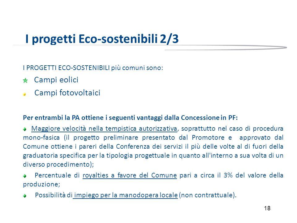 I progetti Eco-sostenibili 2/3